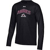 Under Armour Youth New Mexico State Aggies Tech Performance Long Sleeve Black T-Shirt