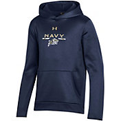 Under Armour Youth Navy Midshipmen Navy Armour Fleece Pullover Performance Hoodie