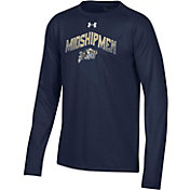 Under Armour Youth Navy Midshipmen Navy Tech Performance Long Sleeve T-Shirt