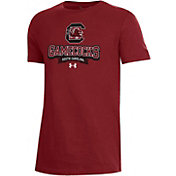 Under Armour Youth South Carolina Gamecocks Garnet Performance Cotton T-Shirt