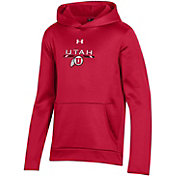 Under Armour Youth Utah Utes Crimson Armour Fleece Pullover Performance Hoodie