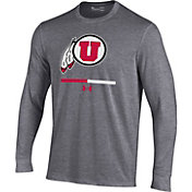 Under Armour Youth Utah Utes Grey Charged Cotton Long Sleeve Performance T-Shirt