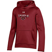 Under Armour Youth Temple Owls Cherry Armour Fleece Pullover Performance Hoodie