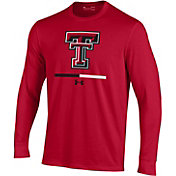 Under Armour Youth Texas Tech Red Raiders Red Charged Cotton Long Sleeve Performance T-Shirt