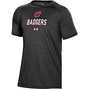 Under Armour Youth Wisconsin Badgers Tech Performance Black T-Shirt