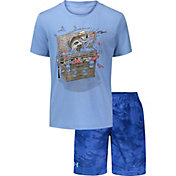 Under Armour Boys' Tackle Box T-Shirt and Shorts 2-Piece Set