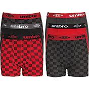 Umbro Boys' Cotton Essential Stretch Boxer Briefs – 6 Pack