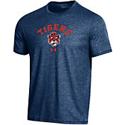 Under Armour Men's Auburn Tigers Blue Bi-Blend Performance T-Shirt