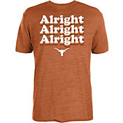 University of Texas Authentic Apparel Men's Texas Longhorns Burnt Orange 'Alright Alright Alright' T-Shirt