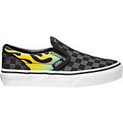 Vans Kids' Preschool Classic Slip-on Glo Flame Shoes
