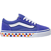 Vans Kids' Grade School Old Skool Checkered Shoes