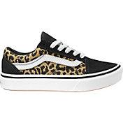 Vans Kids' Grade School ComfyCush Old Skool Cheetah Print Shoes