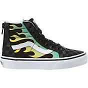 Vans Kids' Grade School SK8-Hi Zip Glow Flame Shoes