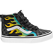 Vans Kids' Preschool Glow Flame SK8-Hi Zip Shoes
