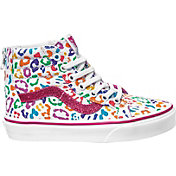 Vans Kids' Grade School Sk8-Hi Rainbow Leopard Shoes