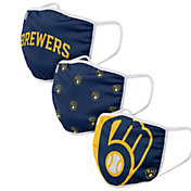 FOCO Adult Milwaukee Brewers 3-Pack Face Coverings