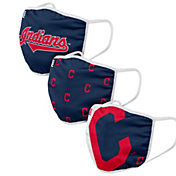 FOCO Adult Cleveland Indians 3-Pack Face Coverings