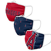 FOCO Adult Los Angeles Angels 3-Pack Face Coverings