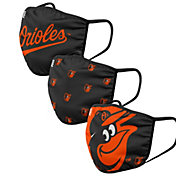 FOCO Adult Baltimore Orioles 3-Pack Face Masks