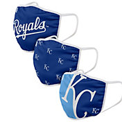 FOCO Adult Kansas City Royals 3-Pack Face Coverings