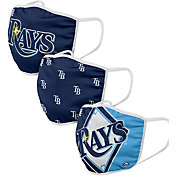 FOCO Adult Tampa Bay Rays 3-Pack Facemasks
