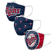 FOCO Adult Minnesota Twins 3-Pack Face Coverings