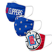 FOCO Adult Los Angeles Clippers 3-Pack Face Coverings