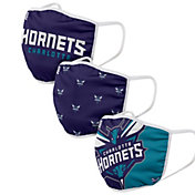 FOCO Adult Charlotte Hornets 3-Pack Face Coverings