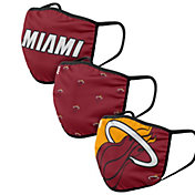 FOCO Adult Miami Heat 3-Pack Face Coverings
