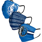 FOCO Adult Dallas Mavericks 3-Pack Matchday Face Coverings