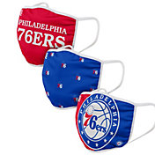 FOCO Adult Philadelphia 76ers 3-Pack Face Coverings