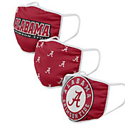 FOCO Adult Alabama Crimson Tide 3-Pack Face Coverings
