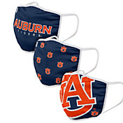 FOCO Adult Auburn Tigers 3-Pack Face Coverings