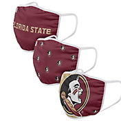 FOCO Adult Florida State Seminoles 3-Pack Face Coverings
