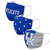 FOCO Adult Kentucky Wildcats 3-Pack Face Coverings