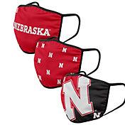FOCO Adult Nebraska Cornhuskers 3-Pack Face Coverings