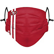 FOCO Adult San Francisco 49ers On-Field Sideline Stripe Adjustable Face Covering