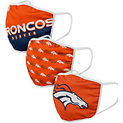 FOCO Adult Denver Broncos 3-Pack Face Coverings