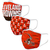 FOCO Adult Cleveland Browns 3-Pack Face Masks