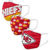 FOCO Adult Kansas City Chiefs 3-Pack Face Masks