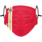 FOCO Adult Kansas City Chiefs On-Field Sideline Stripe Adjustable Face Covering