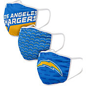 FOCO Adult Los Angeles Chargers 3-Pack Face Masks