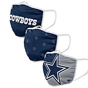 FOCO Adult Dallas Cowboys 3-Pack Face Coverings