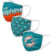 FOCO Adult Miami Dolphins 3-Pack Face Masks