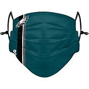 FOCO Adult Philadelphia Eagles On-Field Sideline Stripe Adjustable Face Covering