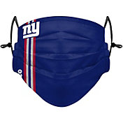 FOCO Adult New York Giants On-Field Sideline Stripe Adjustable Face Covering