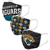 FOCO Adult Jacksonville Jaguars 3-Pack Face Coverings
