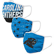 FOCO Adult Carolina Panthers 3-Pack Face Coverings