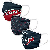 FOCO Adult Houston Texans 3-Pack Face Coverings