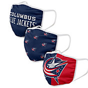 FOCO Adult Columbus Blue Jackets 3-Pack Facemasks